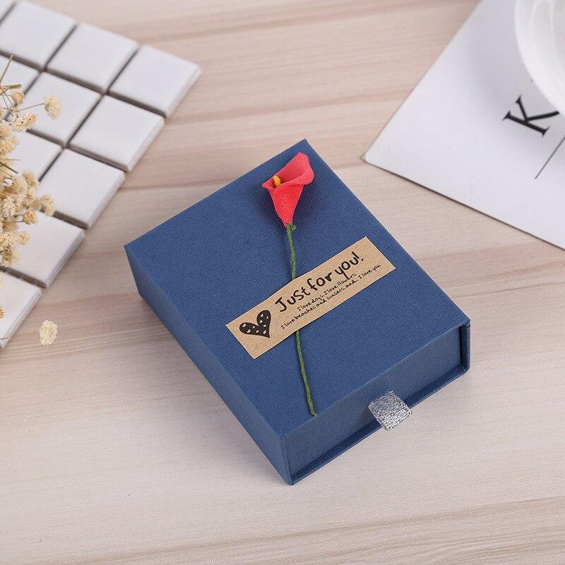 Мода красочные 2 шт. Новые 3 размеров Jewery Организатор Box Кольца для хранения кольца серьги Kraft Бумага ювелирные изделия подарок на день рожден...