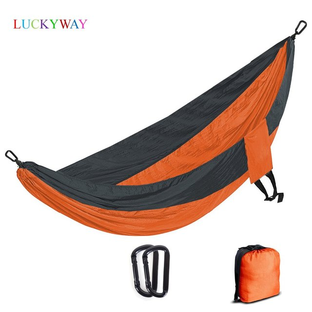 Solid Color Nylon Parachute Hammock Camping Survival garden swing Leisure travel Portable outdoor furniture FREE SHIPPING 2018