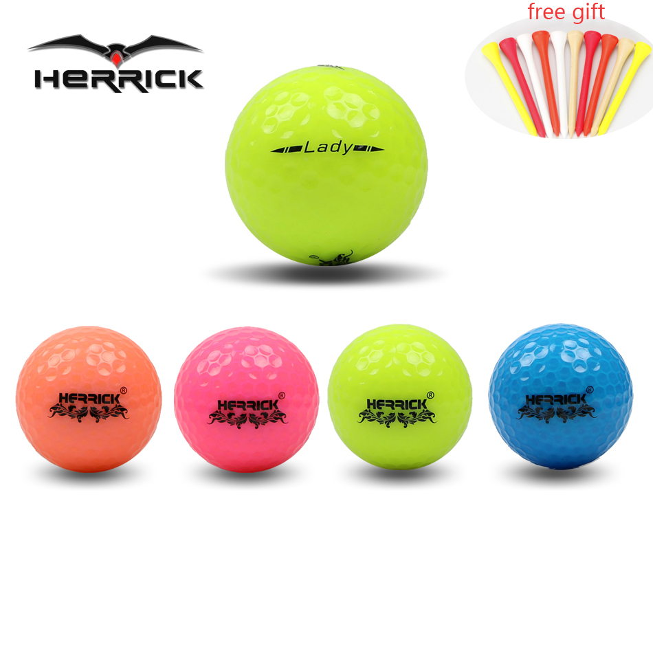 Golf Ball  Lady Game Colour Ball 3PCS/lot  Two  Layers High Quality  Far Away Better Stability  2016 New Freeshipping
