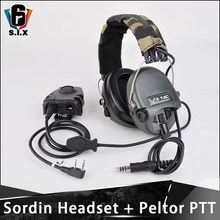 Z TAC tactique Aviation zsordin casque Airsoft Sordin casque Peltor PTT Midland Softair accessoires de tir Z111(China)