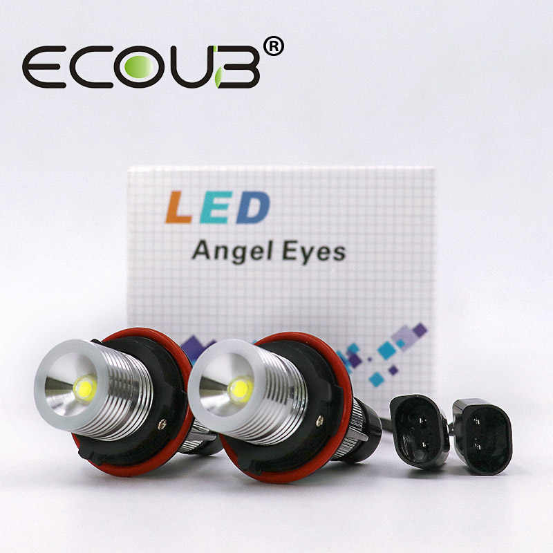 LED Angel Eyes for BMW E39 E60 E53 X5 E83 X3 E61 E63 E64 E65 E66 E87 BMW LED Side Marker Light Bulb Canbus White Blue Red Yellow