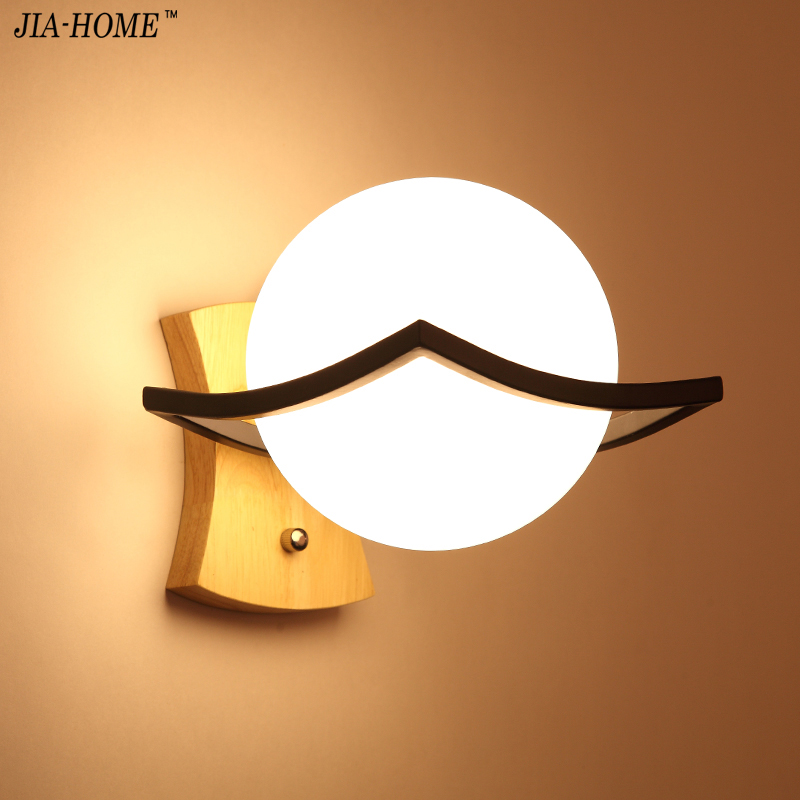 Wall Lamps round grass lampshade wooden iron lamp body Wall Lights Corridor Attic Indoor Kitchen Lighting AC110V/220V E27 Holder tiffany baroque sunflower stained glass iron mermaid wall lamp indoor bedside lamps wall lights for home ac 110v 220v e27