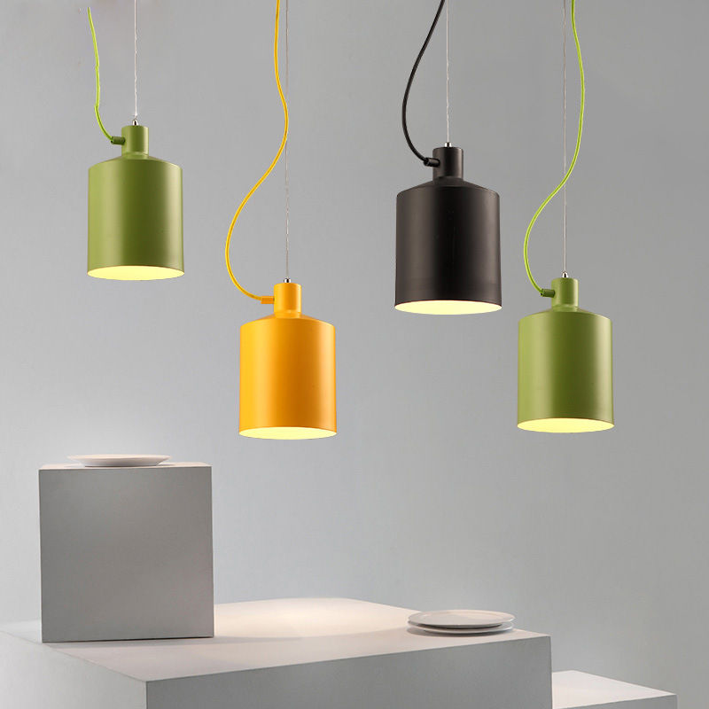 Nordic Creative Color Restaurant Chandelier Personality Living Room Bedroom Study Light Simple Coffee Shop Lamp Free Shipping