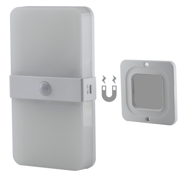 Two color rechargeable Magnetic Motion Sensor led cabinet Light auto on off PIR sensor Wall Lamp bedroom Stairs night Light