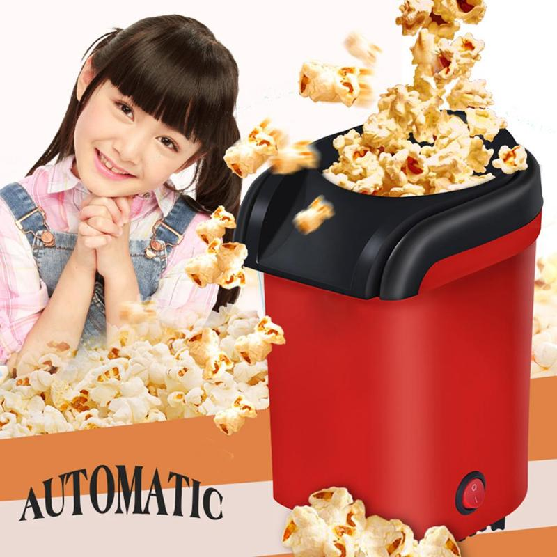 EU Electric Corn Popcorn Maker Household Automatic 1100W Mini Hot Air Popcorn Making Machine DIY Corn Popper Party Kitchen Maker outdoor survival aluminum alloy whistle w keychain black 5 pcs
