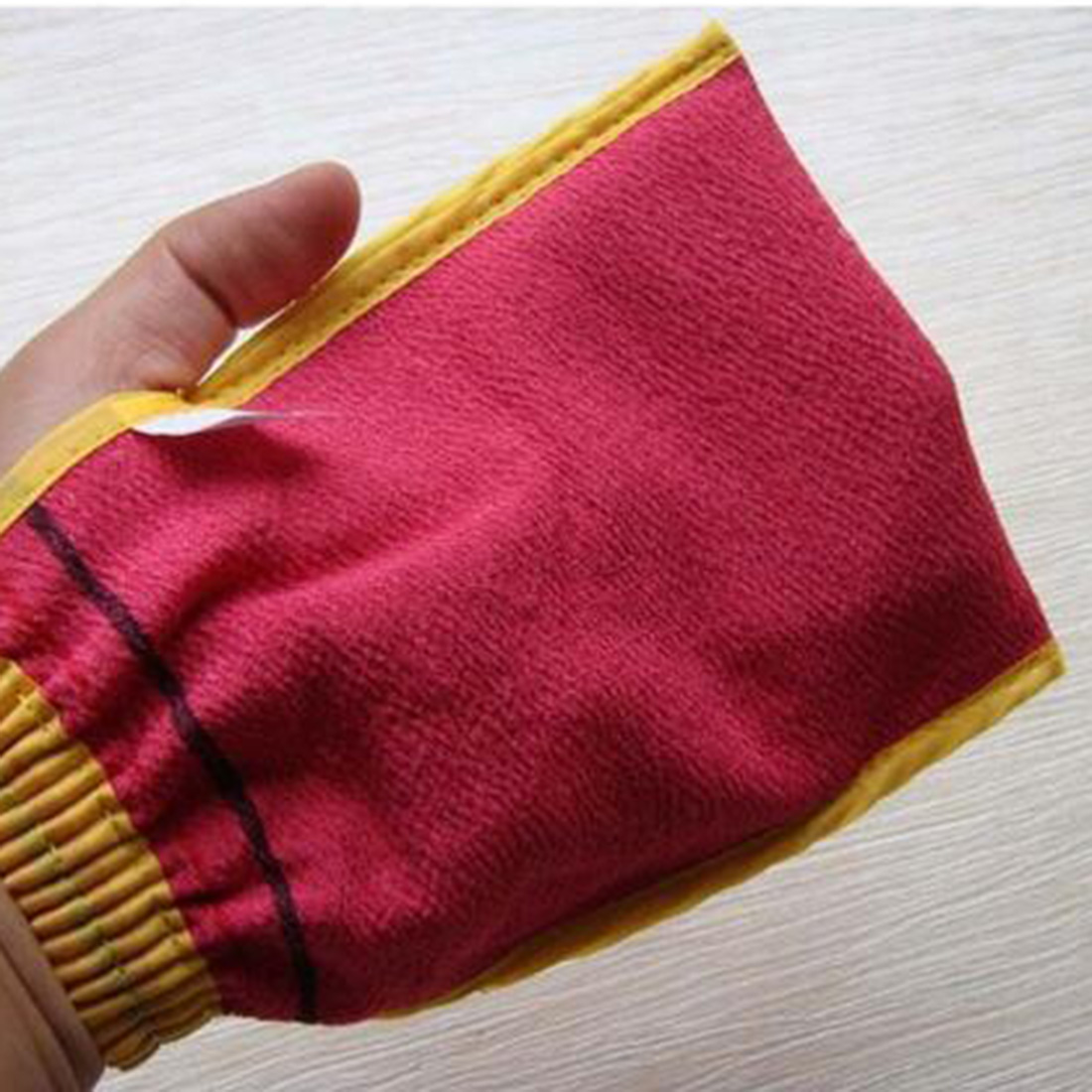 Random Color Shower Spa Exfoliator Two-sided Bath Glove Body Cleaning Scrub Mitt Rub Dead Skin Removal