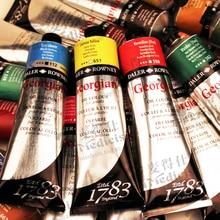 Freeshipping Britischen Georigian 225 ML 54 farbe hohe qualität master ölfarben Professionelle Öl farbe für künstler einzelnen pigment