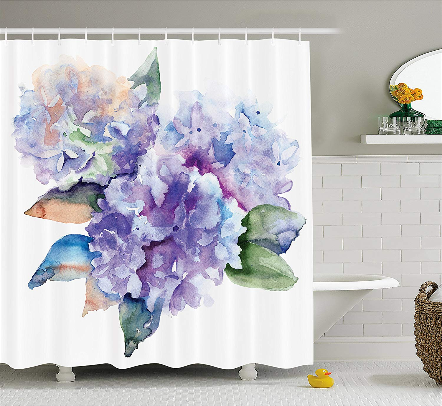 Watercolor Shower Curtain Delicate