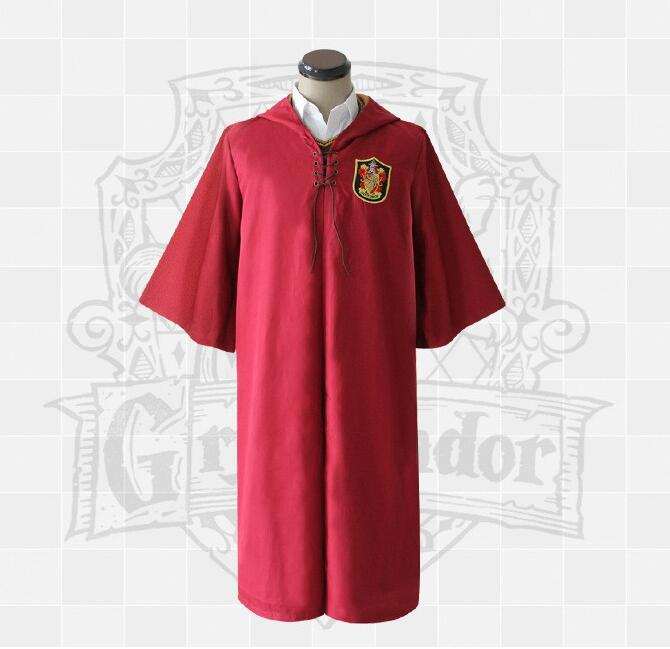 New Adult Robe Cloak Gryffindor Slytherin Quidditch Cosplay Costume for Harri Potter Cosplay