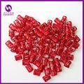( 100pcs/bag) RED Adjustable Dreadlocks Hair Beads Adjustable Hair Braid Cuff Clip For Crochet  Braiding Hair Extensions