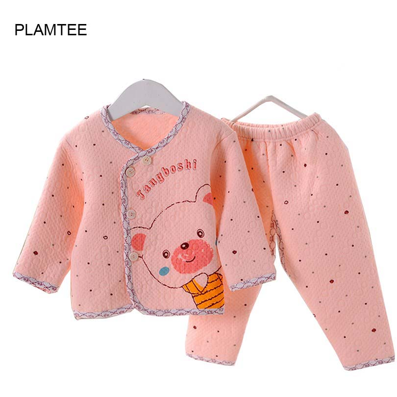 Hot 2017 Quality Thermal Underwear Sets Childrens Clothing Set Infant Baby Clothes Wholesale Newborn Clothing Baby Set