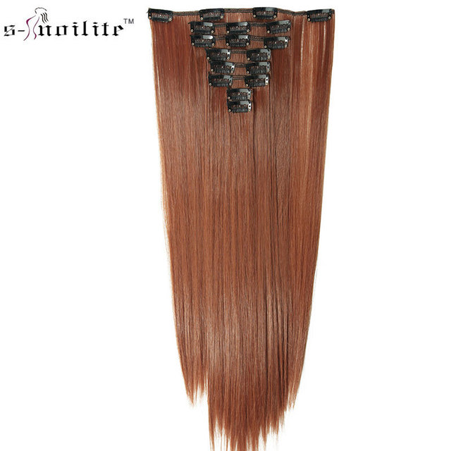 Snoilite Hairpiece 23inch Straight 18 Clips In Hair Extensions