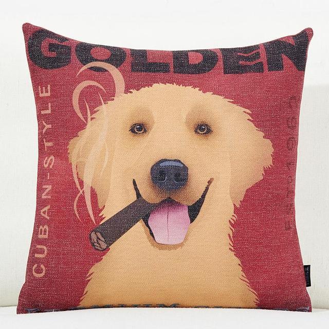 Personalized Border Collie Seat Cushion Labrador Dog Cushions Home Decor Golden Retriever Bulldog For S