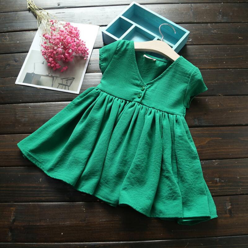 girls short sleeve dress princess summer 2018 baby toddler