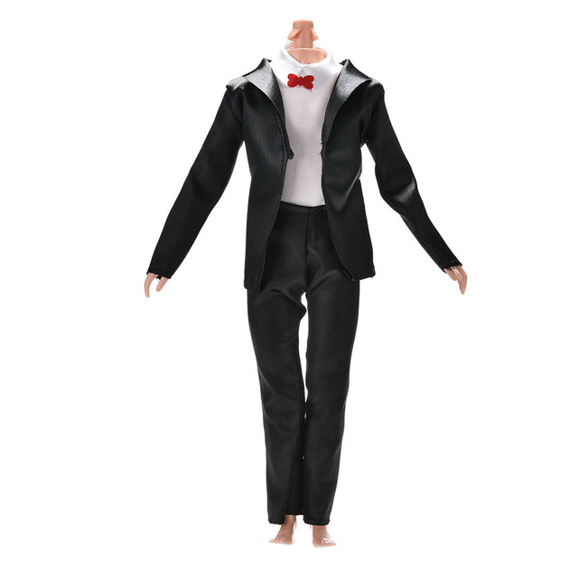 3bc2b80d187 TOYZHIJIA 3 Pcs set cute Handmade Doll Bride Suit With White Shirt Clothes  Accessories For Barbie Doll KenFor Barbies Boy Firend