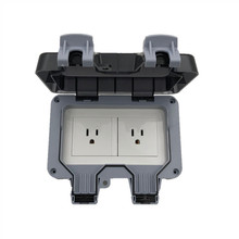 цена на Weatherproof Waterproof Outdoor Wall Power Socket 15A US Standard Electrical Outlet Grounded AC 125V