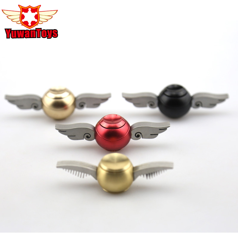 4 Style EDC Fidget Spinner Harry Potter Golden Snitch Metal Toy Hand Finger Spinner Cupid Wings Spiner Gift For Kid Adult Drum four leaves colorful wings rainbow butterfly shaped metal hand fidget spinner toy edc toy spinner gift kids adult finger