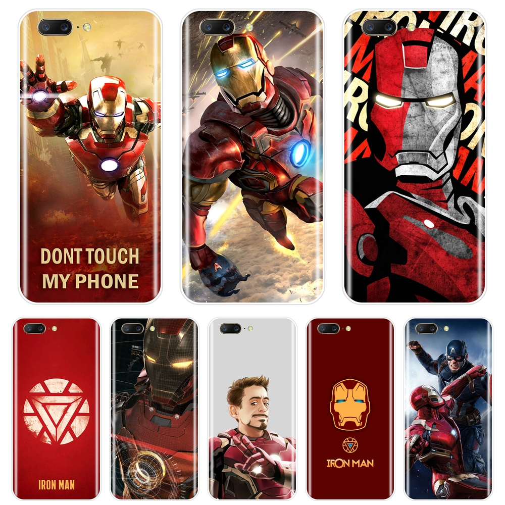 Soft Silicone <font><b>Phone</b></font> <font><b>Case</b></font> For One Plus 6 6T 5 5T 3 3T Cool <font><b>Marvel</b></font> SuperHero Iron Man Back Cover For OnePlus 3 3T 5 5T 6 6T <font><b>Case</b></font> image