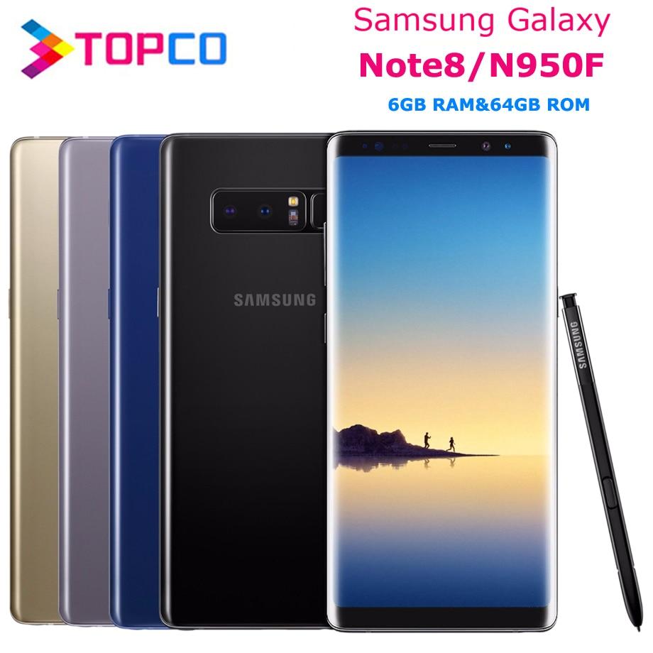 Смартфон Samsung Galaxy Note 8 N950F, оригинальный, глобальная версия, 4G, Android, Восьмиядерный процессор Exynos, экран 6,3 дюйма, двойная камера 12 МП, ОЗУ 6 Гб ПЗ...