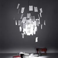 Creative Led Pendant Lamp Ingo Zettel'z 5 Paper Pendant Light Fixtures Luminaires White Art for Home Decore Pendant Lights C020