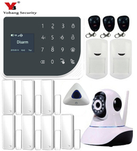 YoBang Security WIFI GSM Home Security Alarm System Touch Keyboard Video IP Camera Wireless SMS Call