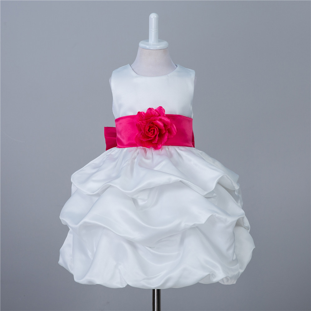 Fashion cute children dresses for party and wedding satin balls size ...