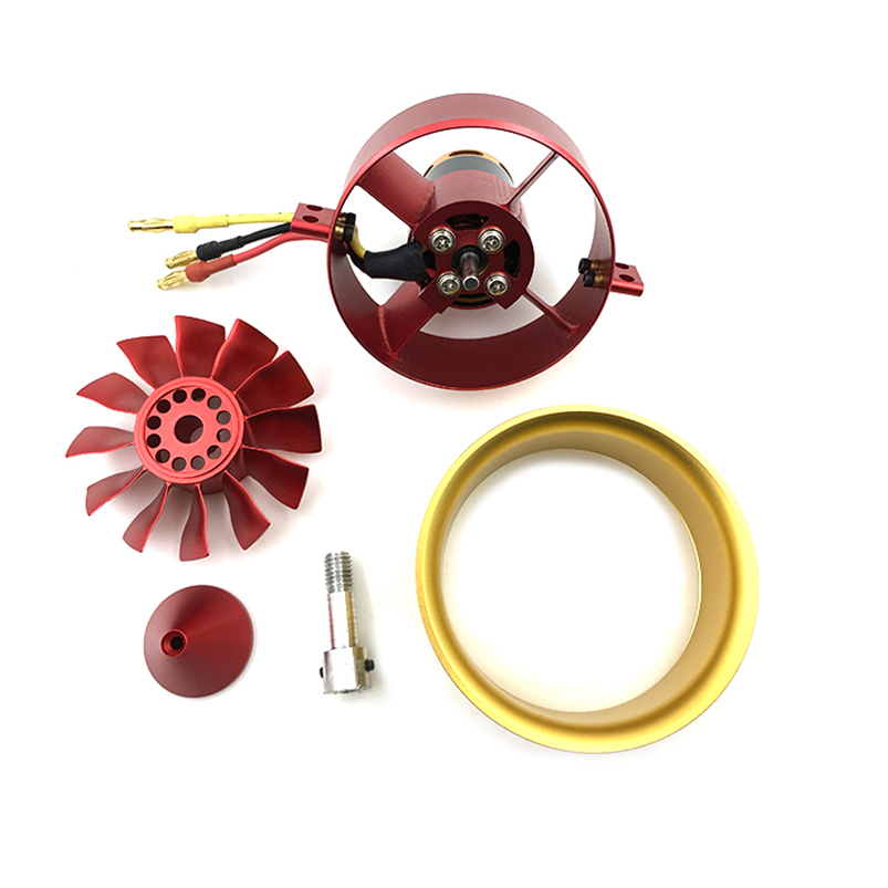 QX-MOTOR  2150KV CW CCW Full Metal Ducts 12 Blades Ducted Fan 4S-6S Lipo Charger Powerful Motor Electric For RC Airplane free shipping tyj50 cw ccw metal shell fan synchronous motor 5 6rpm ac220 240v 4w