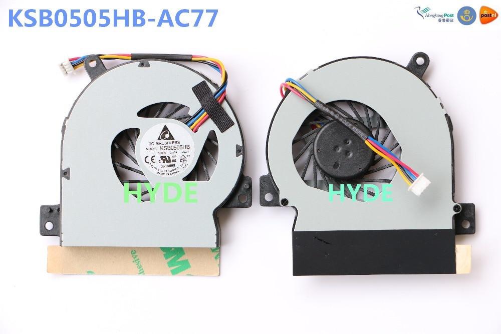 NEW Original DELTA KSB0505HB -AC77 LAPTOP CPU FAN  FOR ASUS EPC 1215T 1215TL 1215P 1215B CPU COOLING FAN cpu cooling fan for delta delta buc1012vn 00 12v 0 8a bvz laptop cpu fan