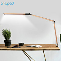 Remote Control Manicure Office Desk Lamp with Clip AC110V 220V Golden Silver Black Eye Care Flexible Arm Table Lamps for Student