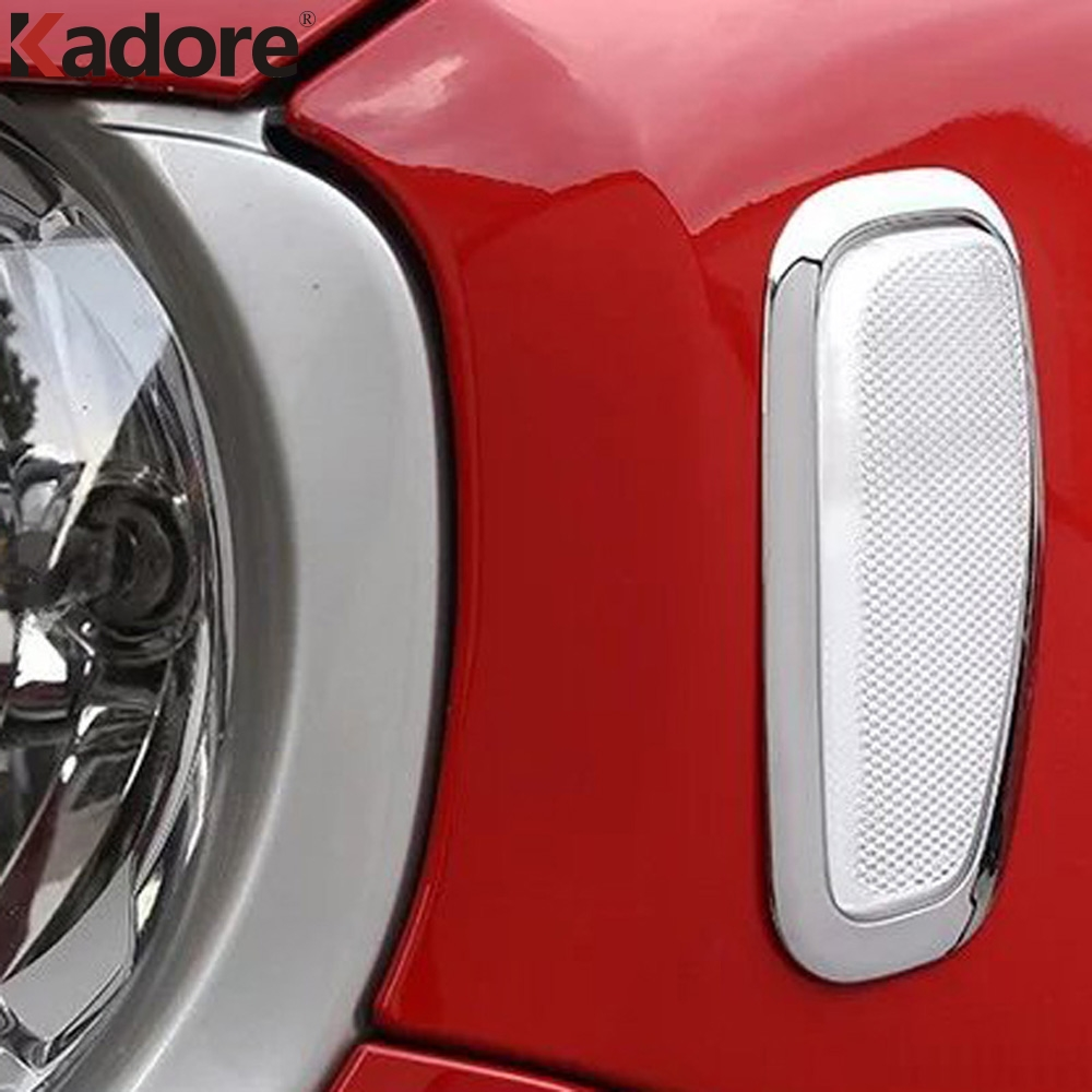 For Jeep Renegade 2014 2015 2016 2PCS ABS Front Head Side Warning Signal Light Lamp Cover Turning Light Lamp Sticker Car Styling