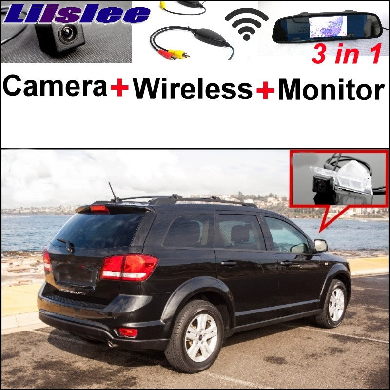 Liislee 3 in1 Special Rear View Camera + Wireless Receiver + Mirror Monitor EASY DIY Parking System For FIAT Freemont 2009~2017 liislee 3 in1 special rear view camera wireless receiver mirror monitor back parking system for citroen ds3 ds 3 2009 2017