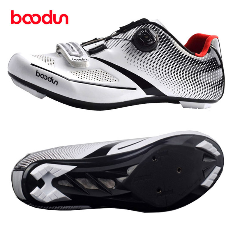 BOODUN 2018 Ultralight Self Locking Pro Men's Cycling Shoes Road Bike Triathlon Shoes Bicycle Lock Sneakers Zapatillas Ciclismo