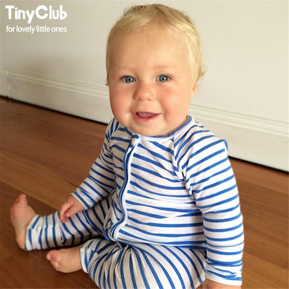 Infant Jumpsuit Long Sleeves Navy Blue Romper Baby Boy ...