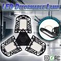 6000LM LED Verformbaren Garage Licht Sensor Bewegung Aktiviert Decke Lampe LED Industrielle Hohe Bucht Licht Menschlichen körper sensing #2U14