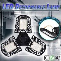 6000LM LED Deformable Garage Light Sensor Motion Activated Ceiling Lamp LED Industrial High Bay Light Human body sensing #2U14