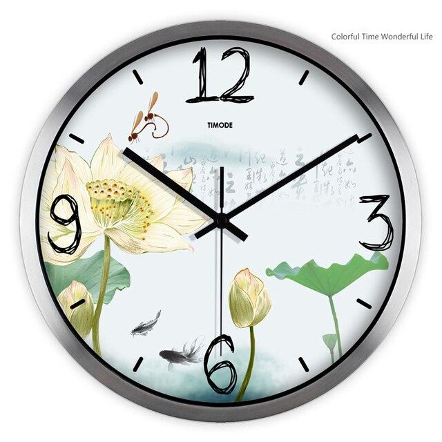 Metal relojes de pared modernos n meros reloj de cocina - Reloj decorativo de pared ...