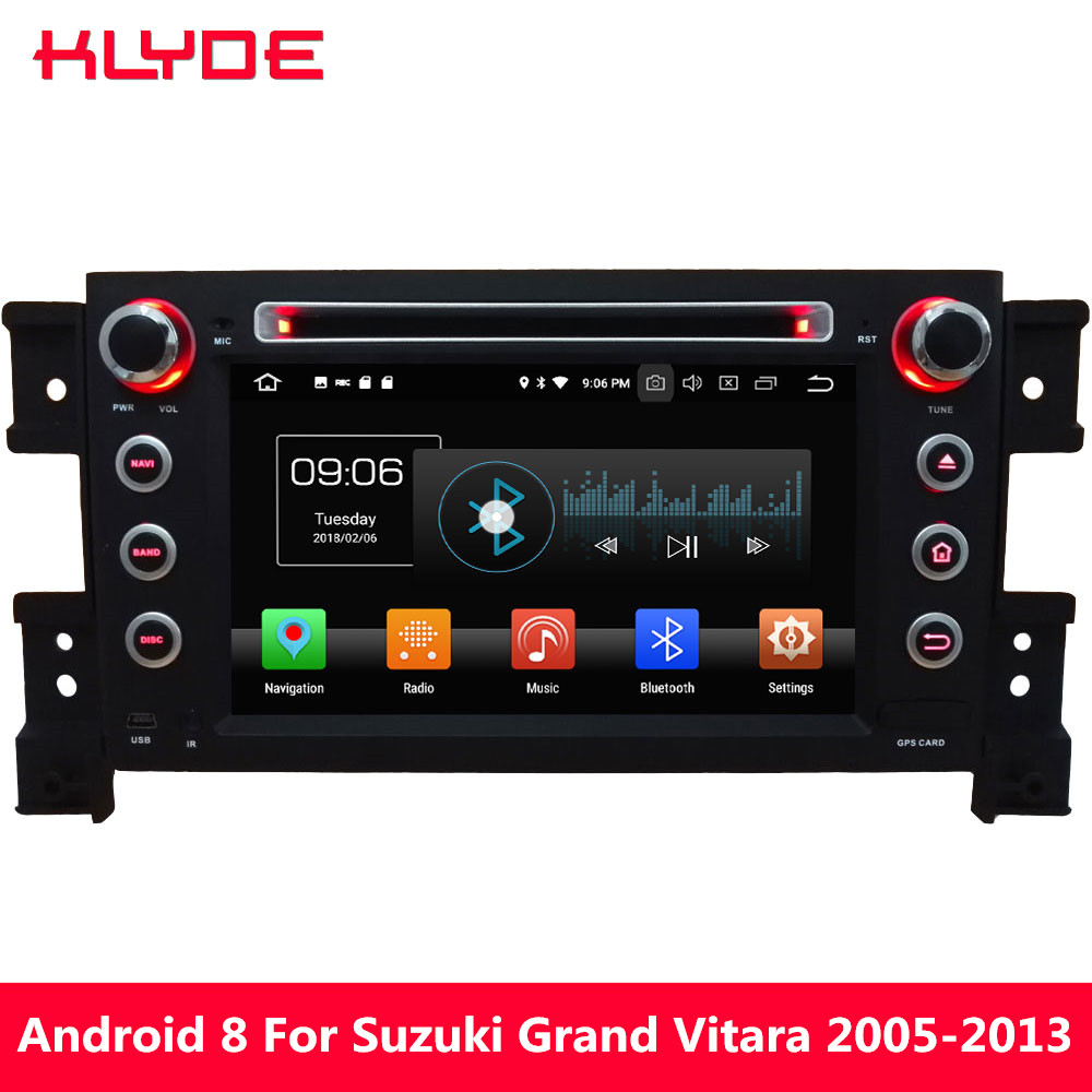 KLYDE 4G WIFI Android 8.0 Octa Core 4 GB RAM 32 GB ROM DAB FM BT voiture DVD lecteur multimédia Radio pour Suzuki Grand Vitara 2005-2013