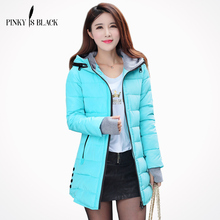 2014 winter coat women wadded jacket female outerwear slim young girl cotton-padded jacket medium-long cotton-padded jacket цена 2017