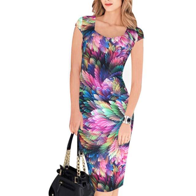 Women's Design Print Business Dress