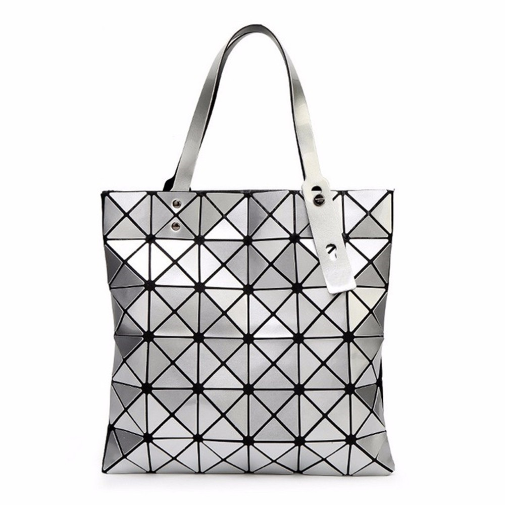 ALIEME Bag Women Pearl Bolso Laser Sac Diamond Lattice Geometry Quilted Shoulder Bags Ja ...