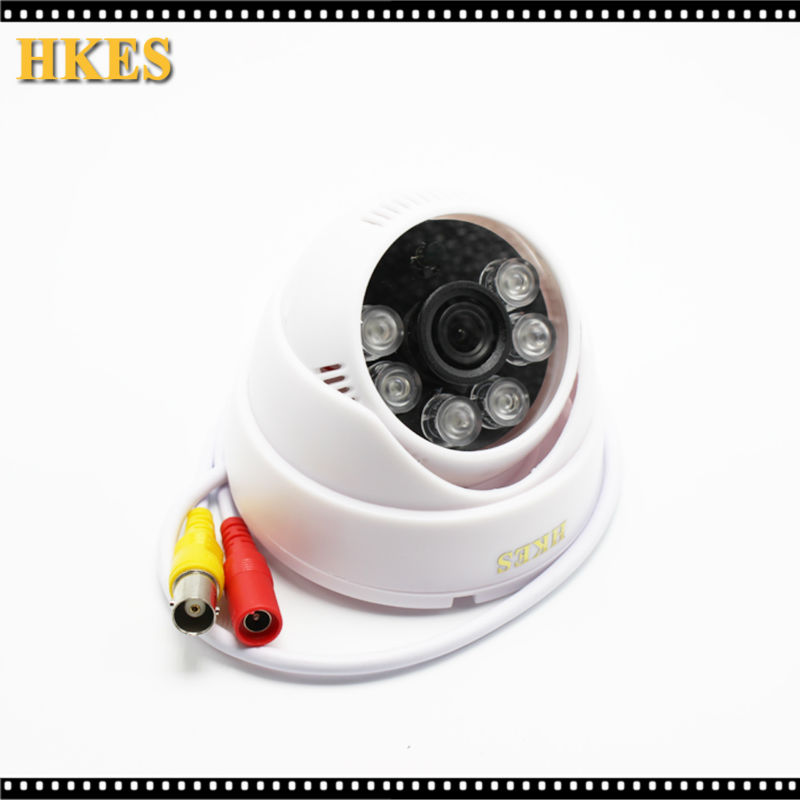 4pcs/lot Indoor IR Dome Mini Analog Video Cam 2.8mm lens with white case 6IR LED Day/Night CCTV Camera 3.6MM 4pcs lot 960p indoor night version ir dome camera 4 in1 camera 3 6mm lens p2p onvif abs plastic housing