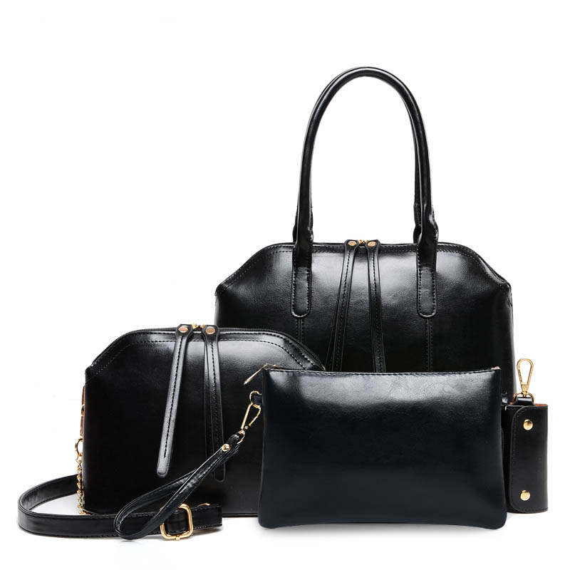 63f906851f3 New women handbags leather handbag women messenger bags ladies brand  designs bag bags Handbag+Messenger Bag+Purse 3 Sets-in Shoulder Bags from  Luggage ...