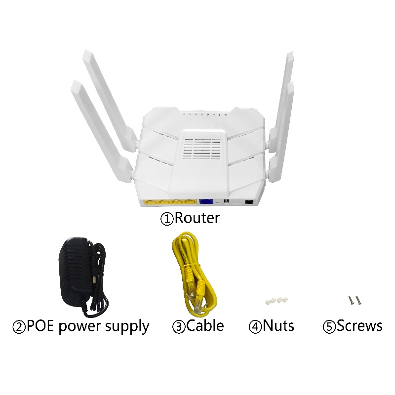Image 5 - 1200Mbps Wireless Wifi Router Dual band 2.4G/5G 1 WAN+ 4LAN Gigabit Ports 4*5 dbi Antenna 802.11AC High Speed Dual Band Wireless-in Wireless Routers from Computer & Office
