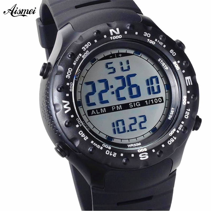 Aismei Brand Men Sports Watches Digital LED Military Watch Swim Alarm Outdoor Casual Wristwatches Hot Clock New 2018Aismei Brand Men Sports Watches Digital LED Military Watch Swim Alarm Outdoor Casual Wristwatches Hot Clock New 2018
