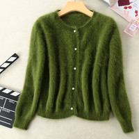Brand new mink cashmere sweater women cashmere cardigans knitted pure mink coat free shipping S1896