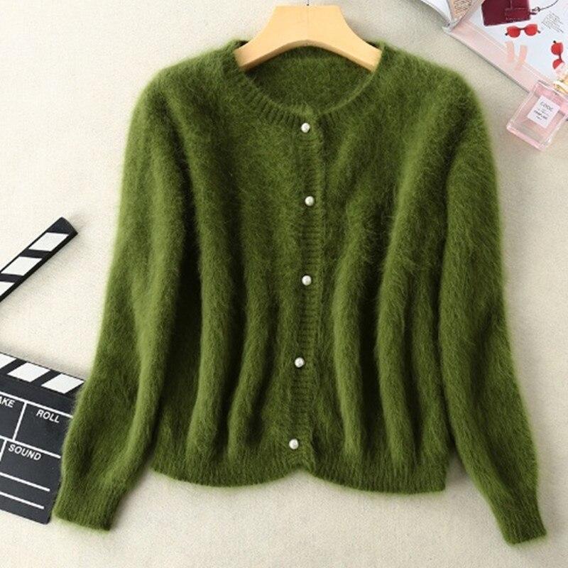 Marque nouvelle vison pull en cachemire femmes cardigans en cachemire tricoté pur vison manteau livraison gratuite S1896