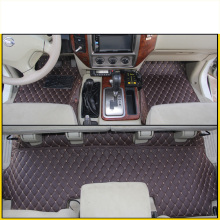 lsrtw2017 leather car floor mat for nissan patrol y61 1997-2010 2008 2009 2007 2006 2005 2004 2003 2002 2001 2000 accessories