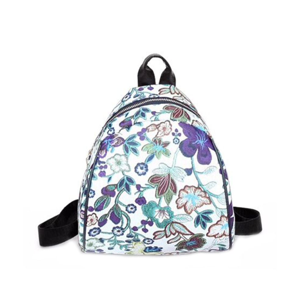 New PU Leather Backpack Women Floral Printed Female Backpack School Bags for Teenage Girls Rucksack Travel Bag Mochila Escolar