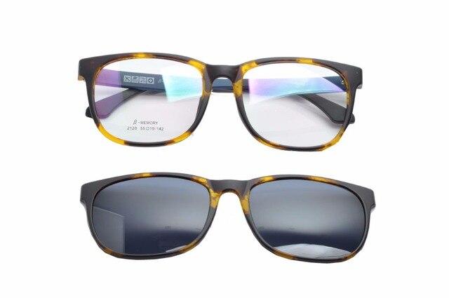 Clip–On Flip Up Lunettes de soleil, classique Conduite lentille en verre avec cadre TR90Lunettes polarisées, Homme, violet