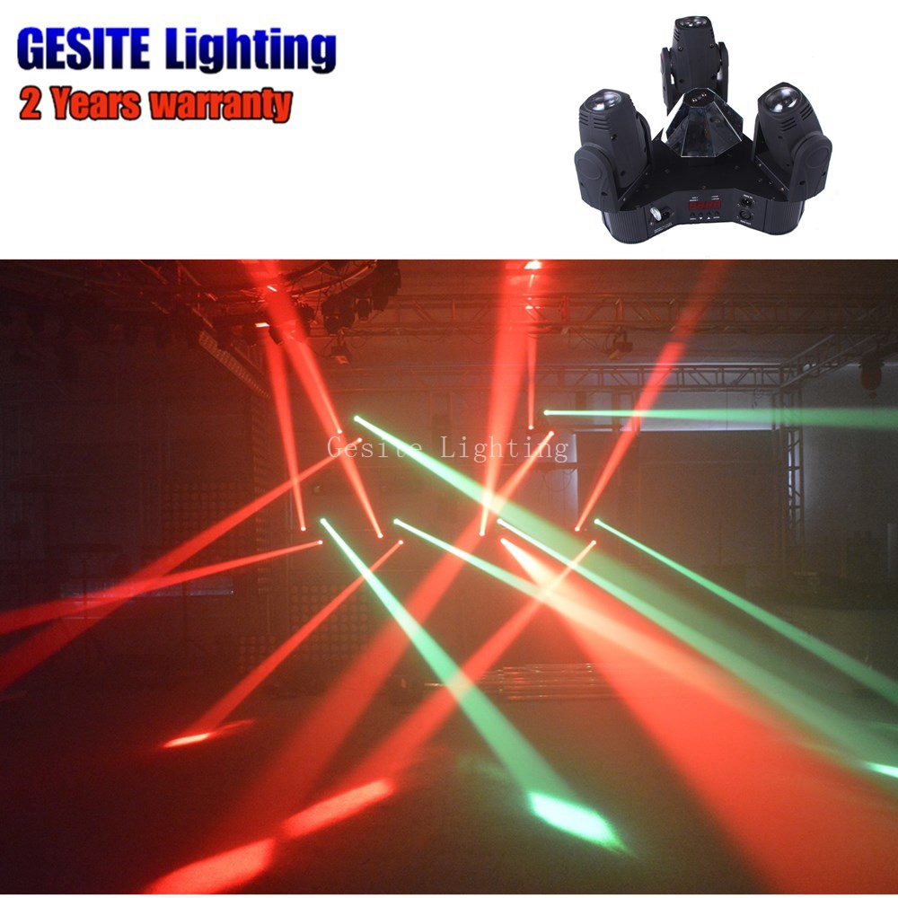 3 HEAD MOVING HEAD LIGHT Projector Disco DJ Stage Party Lights